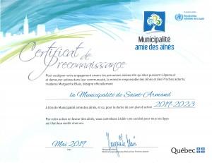 certificat MADA